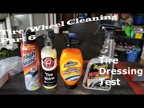 Tire Dressing Test - Tire & Rim Cleaning Part 6