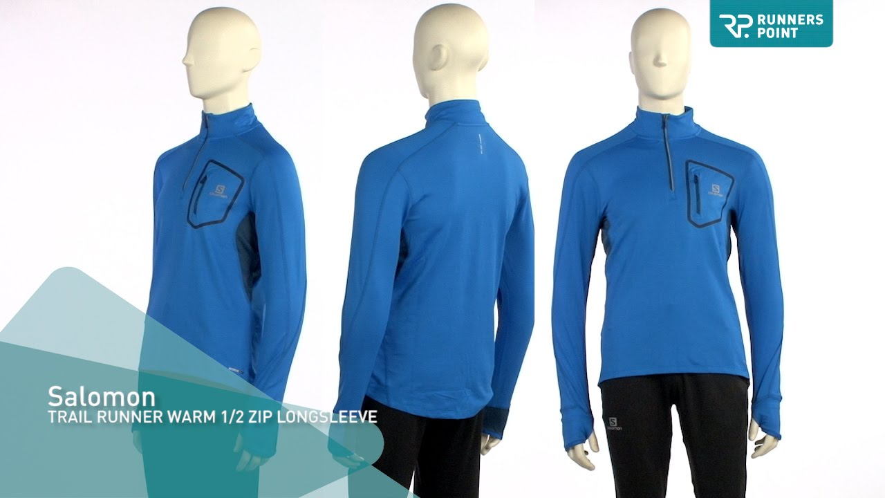 Salomon TRAIL RUNNER WARM 12 ZIP LONGSLEEVE