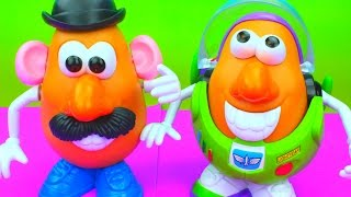 Toy Story 3 Mr. Potato Head Spud Lightyear, Jessy the Spud Slinging Cowgirl Buzz Lightyear
