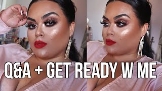 Q&A plus Get ready with me using NEW makeup by Beauty Bakerie, KKW Beauty & Colourpop