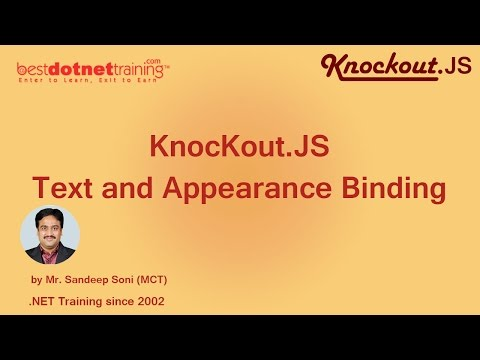 Text and Appearance Binding - Knockout.JS Tutorial - Part 6