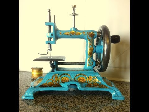 Antique Sewing Machine Muller 15 Blue