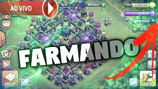 FARMANDO ELIXIR NEGRO AO VIVO - CLASH OF CLANS