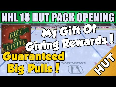 Gift Of Giving Rewards! - NHL 18 HUT - Hockey Ultimate Team - Christmas Legend Pull!