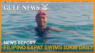 Dubai Fitness Challenge: Filipino expat swims 10km daily — eyes 30 'marathons' in 30 days