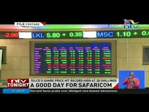 Safaricom share price hit record high at 28 shillings