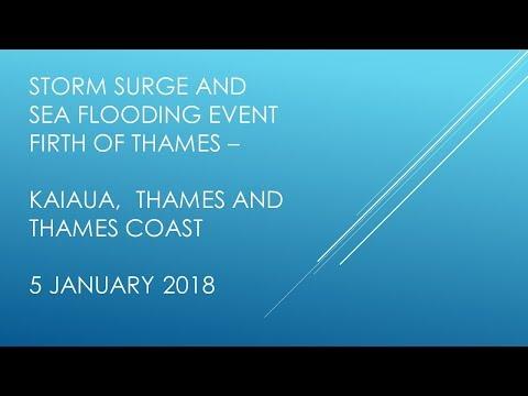 Thames Storm Surge Sea Flood 5 Jan 2018