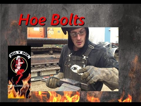 Extracting Broken Track Hoe Bolts With Welding