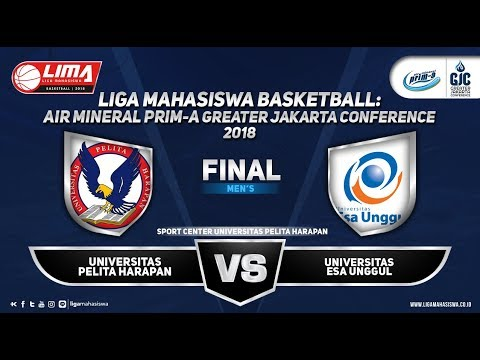 MEN'S FINAL: U. PELITA HARAPAN VS U. ESA UNGGUL (LIMA BASKETBALL GJC 2018)