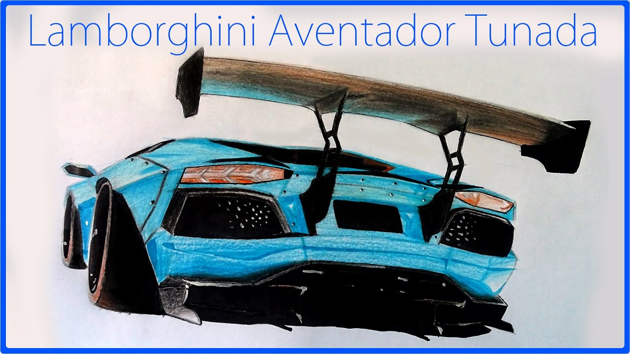 Lamborghini Aventador Tunada Liberty Walk Desenho Realista Youtube