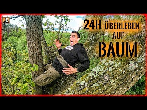 24H ÜBERLEBEN & SCHLAFEN auf einem BAUM - Geht das so einfach? | Survival Mattin