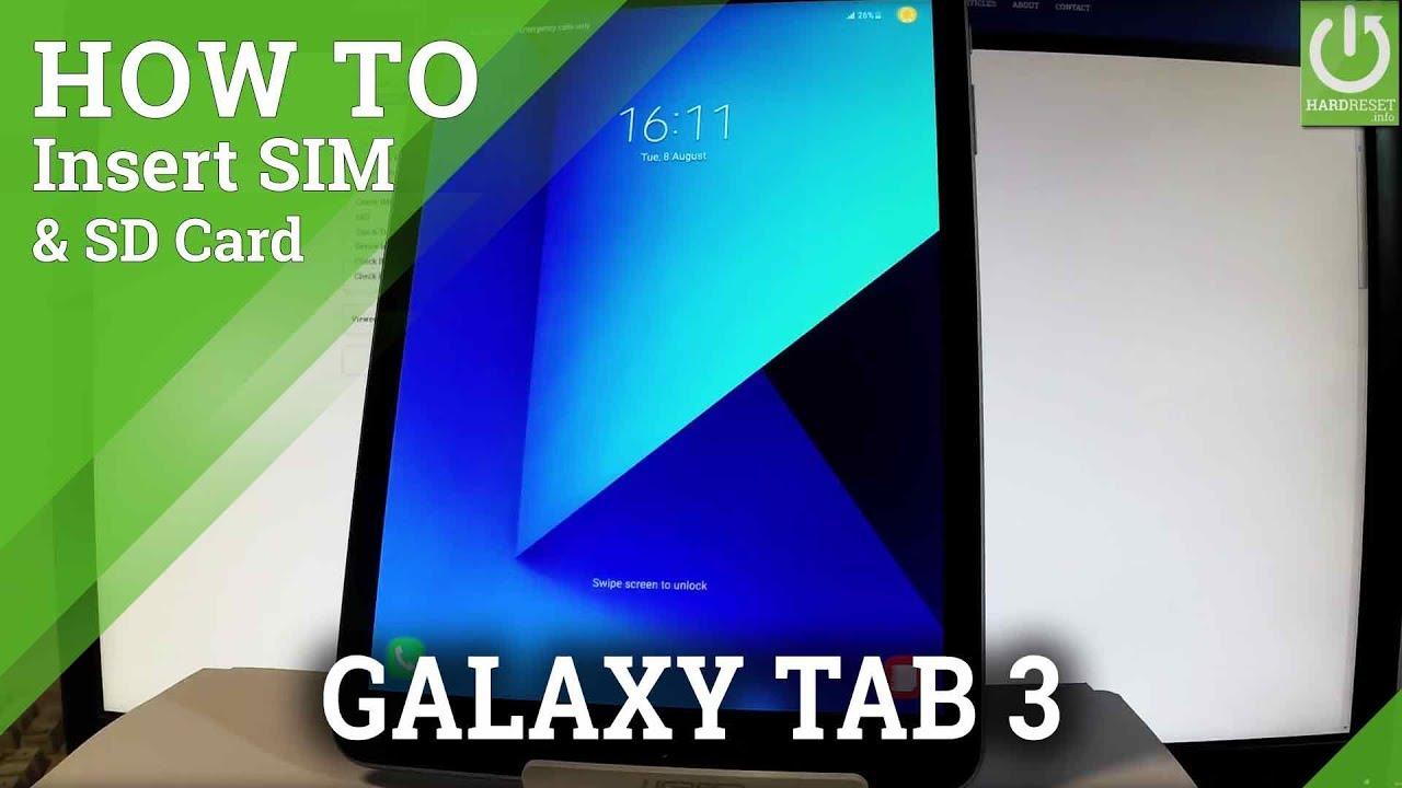 S3 Sim Karte.Install Sim And Sd In Samsung Galaxy Tab S3 Insert Sim Sd Card