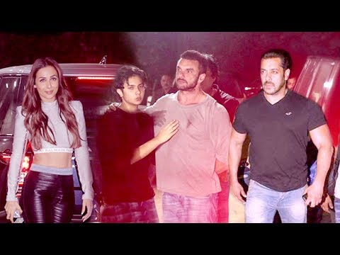 Malaika Arora Arrives In Front of Salman Khan @Sohail Khan's Son Nirvaan's Birthday party