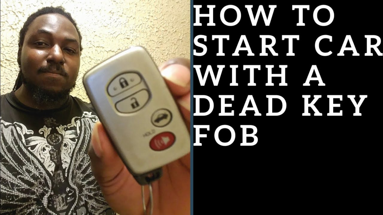 How To Start Toyota Lexus Car With A Dead Key Fob Battery Youtube
