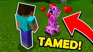 How To TAME a CREEPER in Minecraft! (Better Together Update)
