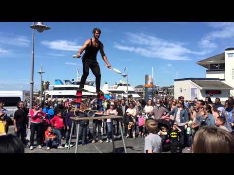 Orion Griffiths in San Francisco on Pier 39