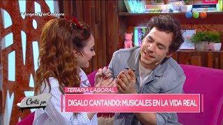 """Ángela Torres y Fer Dente se animaron al """"Dígalo cantando"""" - Cortá por Lozano"""