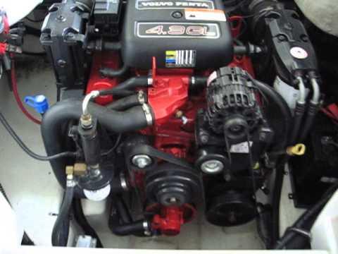 Volvo Penta 4 3 Engine Running Youtube