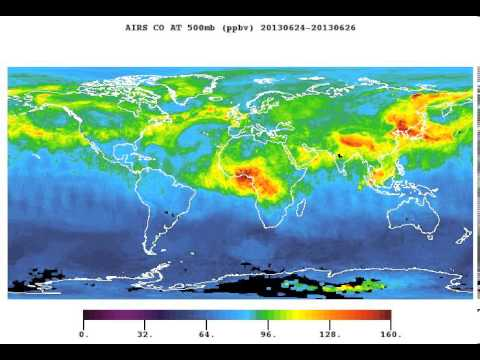 Satellite Data Animation Shows CO From World's Fires