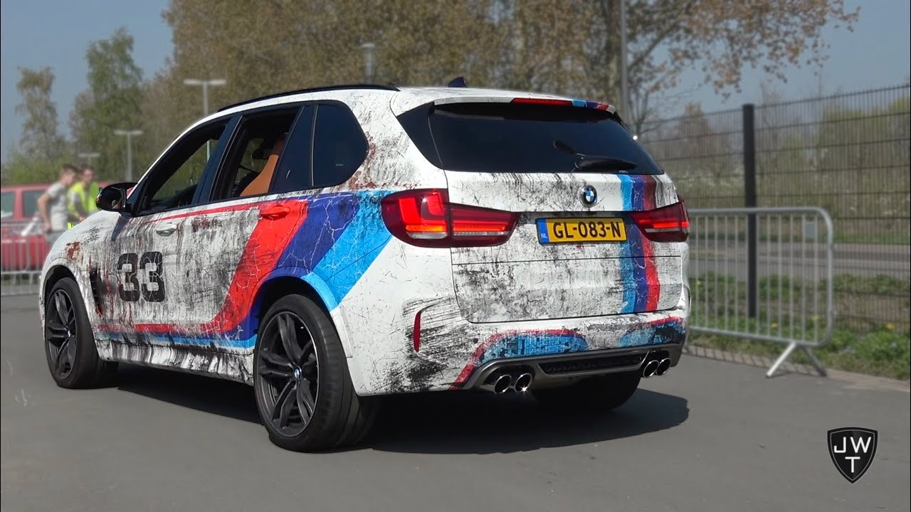 2015 BMW X5 M F85 Acceleration SOUNDS! Crackling Exhaust!
