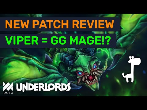 NEW VIPER = Godly Mage Counter?! Tested Patch Review & Builds | Dota Underlords