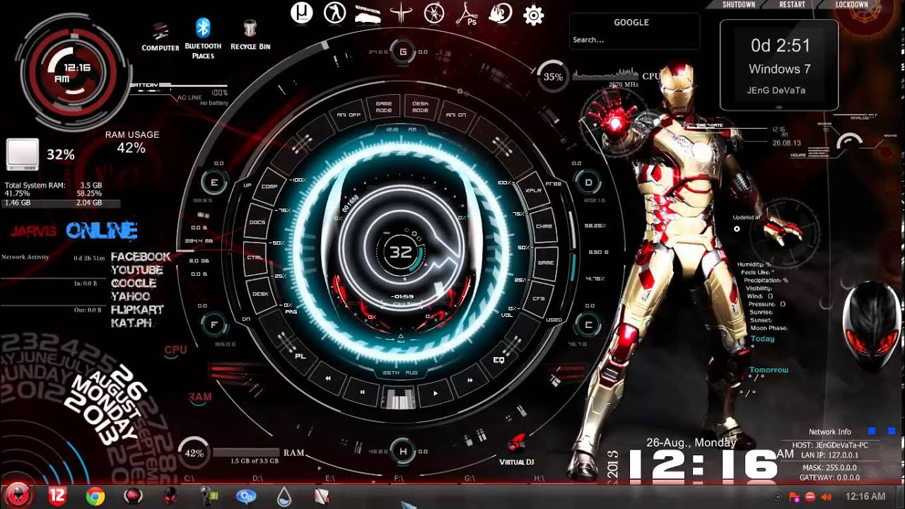 Large Hd Wallpapers For Laptop Jarvis Iron Man Computer Www Pixshark Com Images
