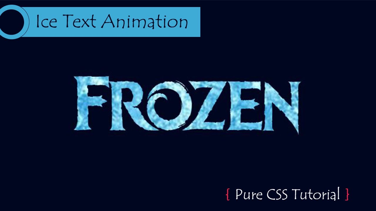 Frozen Text | Ice Text Effect Using CSS - Pure CSS Tutorial
