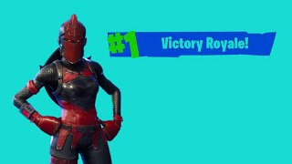 TOP 1 12 KILLS POUR LE RETOUR DU SKIN CHEVALERESSE ROUGE SUR FORTNITE BATTLE ROYALE (PS4)