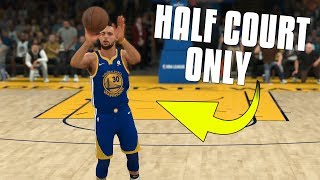 Can I Win A Game Of NBA 2K18 Only Shooting Half Court Shots? NBA 2K18 Challenge!
