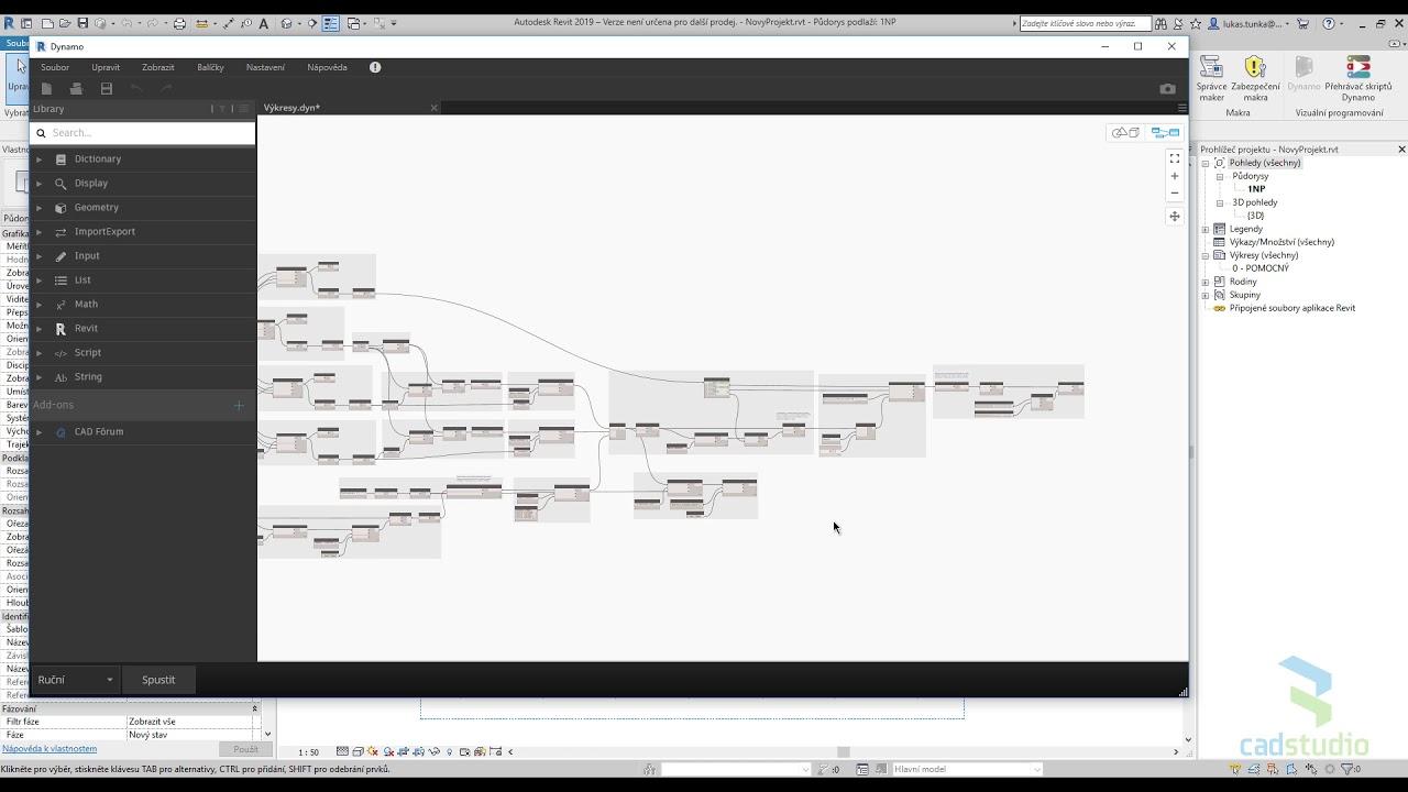Part 4 Vykresy A Osazeni Pohledu Na Jedno Kliknuti Dynamo Youtube
