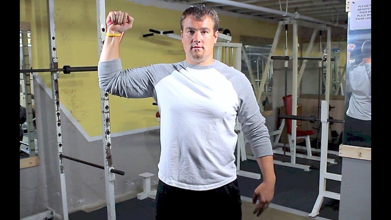 Best Shoulder Exercises Using Resistance Bands Rubber Band 1 Youtube