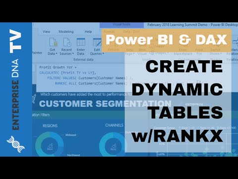 Dynamic Ranking Tables In Power BI - DAX Formula Review