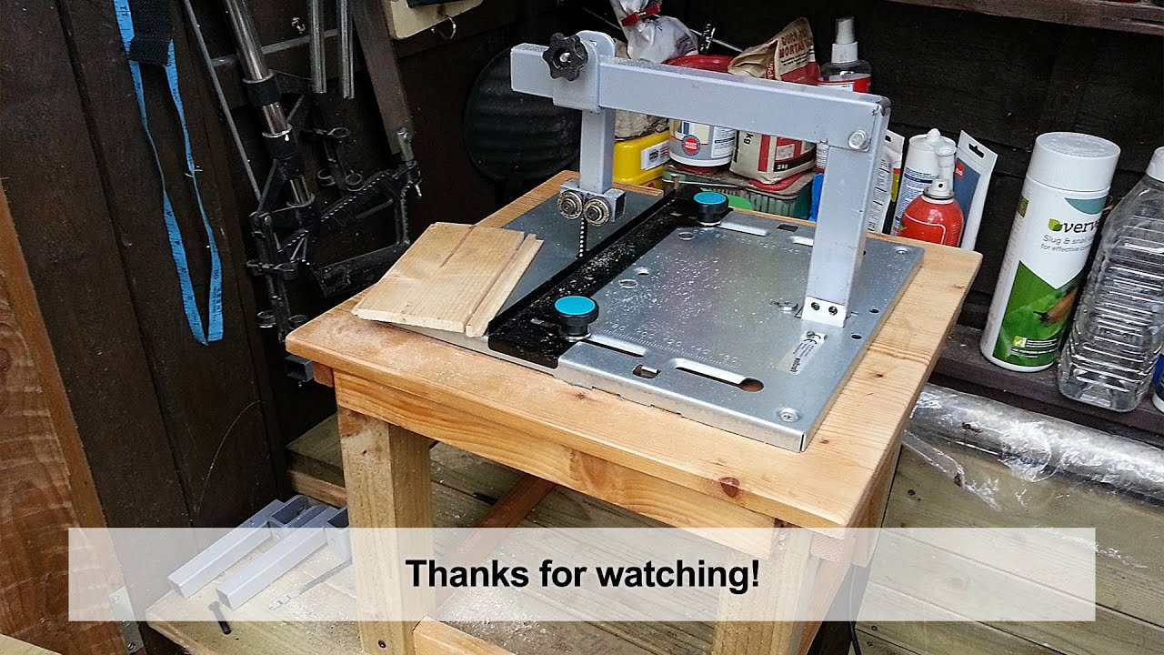 Home Made DIY Jigsaw Table with Blade Guide - YouTube