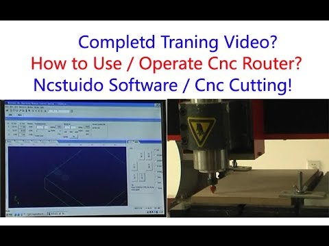 How To Operate Cnc Router machine with Ncstudio software?