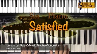 Sia - Satisfied (feat. Miguel & Queen Latifah) Easy Piano Tutorial FREE Sheet Music NEW 2016