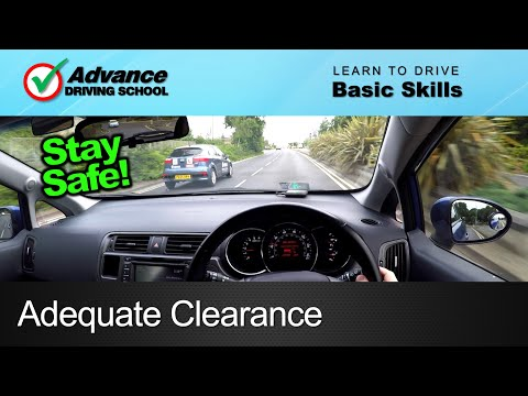 Adequate Clearance  |  Learning to drive: Basic skills
