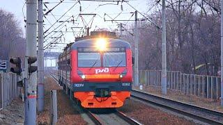 Railway. Intercity EMU Train ED9M-0262 to Nakhodka City / Междугородный электропоезд ЭД9М в Находку