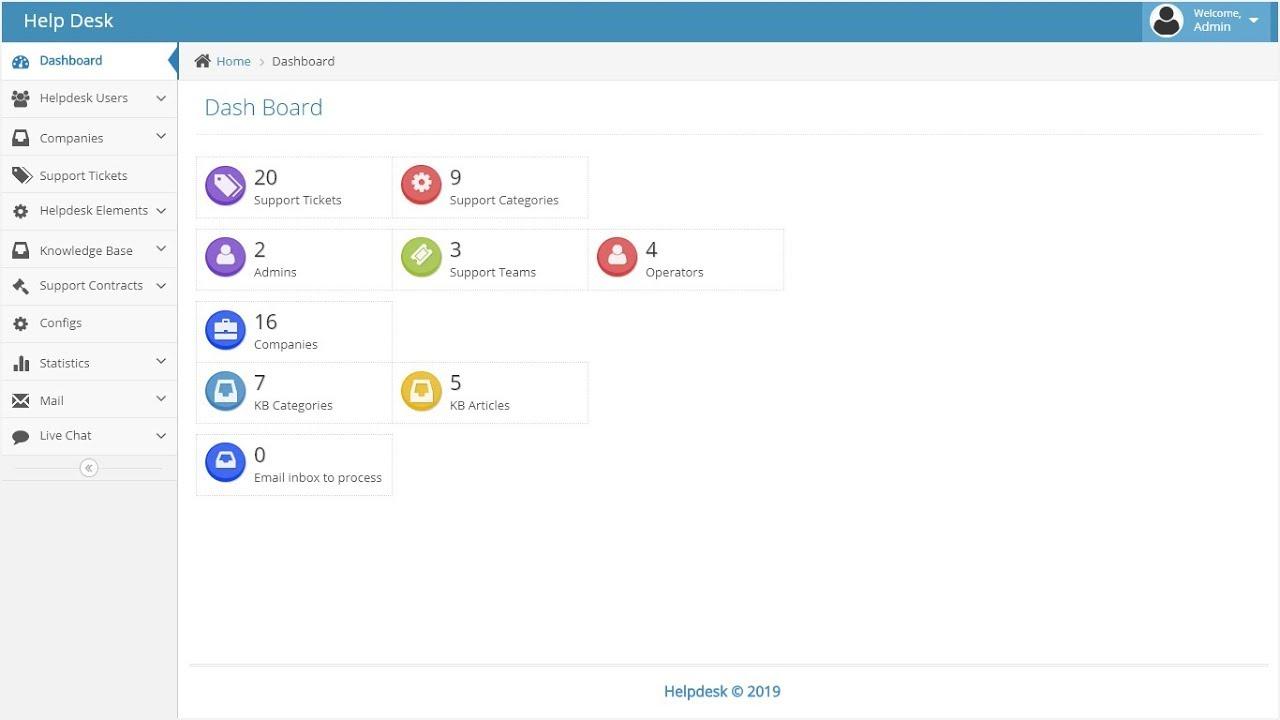 Asp Net MVC5 based Helpdesk Management, Helpdesk Management