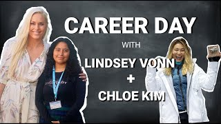 Lindsey Vonn's Virtual Career Day with Olympic Snowboard Champion Chloe Kim