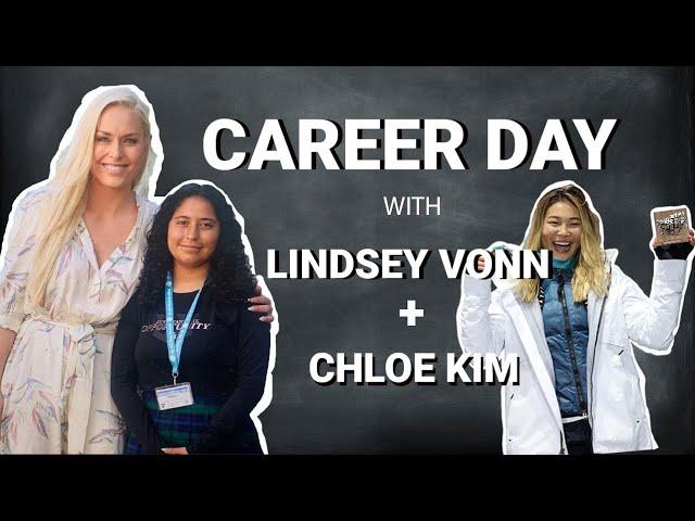 Lindsey Vonn's Virtual Career Day with Olympic Snowboard Champion Chloe Kim