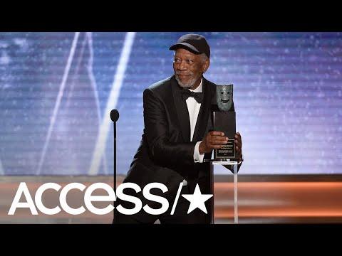 Morgan Freeman Gives A Touching Speech At The 2018 SAG Awards, Brings His Family   Access