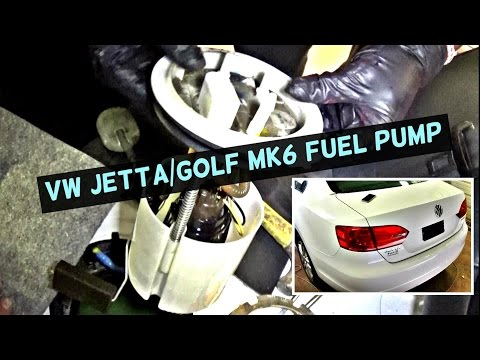 VW JETTA MK6 FUEL PUMP REPLACEMENT REMOVAL | VW GOLF MK6