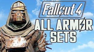 FALLOUT 4 - ALL ARMOR SETS!