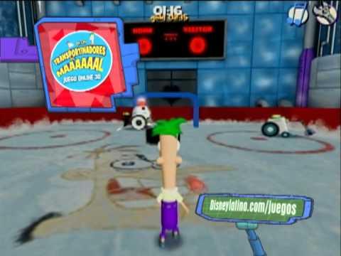 transportinadores del mal juego online 3d phineas y ferb en