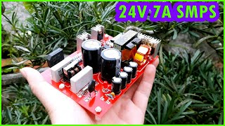 How To Make 24V 7A Switched-Mode Power Supply With Overload and Short Circuit Protect   Real Test