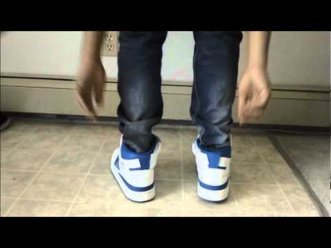Adidas Forum Mid blue and white(on feet) - YouTube dad07a5e5d