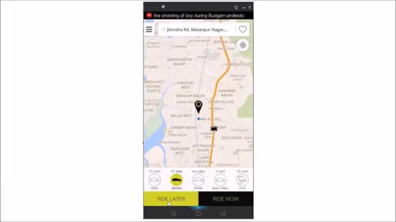 How To Book Ola Cab Youtube