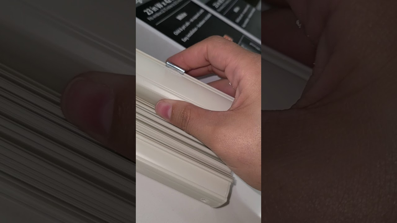 Installing mainstay vinyl mini blinds - YouTube
