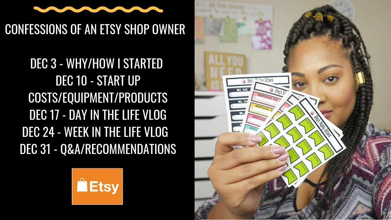 Episode 2: Confessions of an Etsy Shop Owner - Equipment/Products I Use, Start Up Costs, etc.