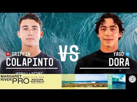 Griffin Colapinto vs. Yago Dora - Round Two, Heat 7 - Margaret River Pro 2018